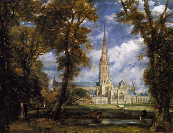 Salisbury Cathedral from the Bishop Grounds c.1825 c
